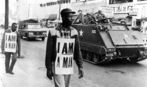 i am a MAN protest